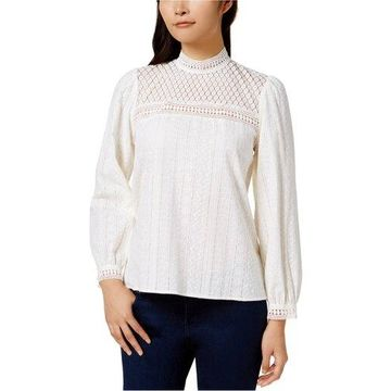 Kensie Womens Embroidered Knit Blouse