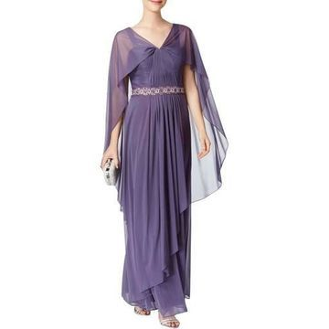 Alex Evenings Womens Embellished Sleeveless Evening Dress