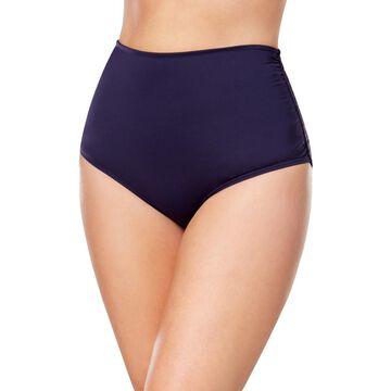 Anne Cole Womens Plus High Waist Fold Over Bikini Swim Bottom