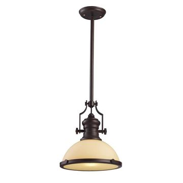 Westmore Lighting Chiserley Oiled Bronze Single Industrial Dome Pendant Light