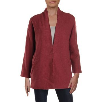 Eileen Fisher Womens Lightweight Merino Wool Jacket