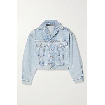 Alexander Wang - Cropped Denim Jacket - Light blue