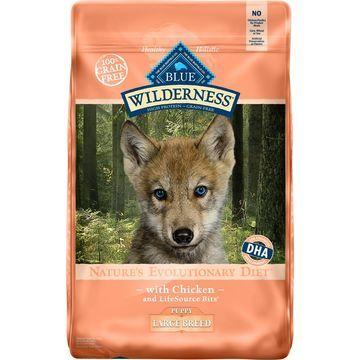 Blue Buffalo Wilderness Large Breed Puppy Chicken Recipe Grain-Free Dry Dog Food, 24-lb bag