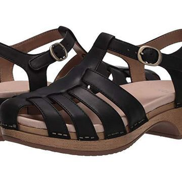 Dansko Brie (Black Oiled Pull Up) Women's Shoes