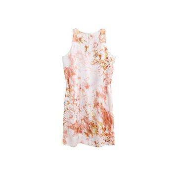 Violeta BY MANGO - Satined tie-dye dress pink - 12 - Plus sizes