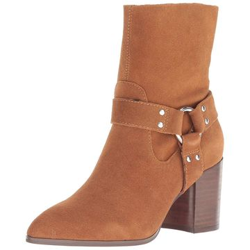 Steven by Steve Madden Womens Jiffie Suede Pointed Toe Ankle Fashion Boots