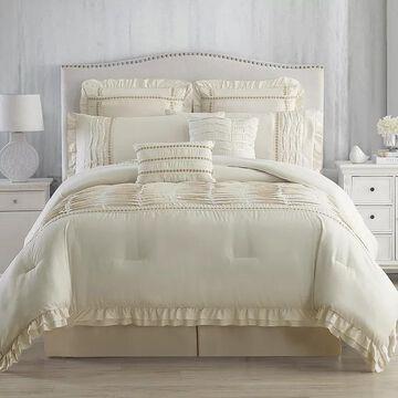 Pacific Coast 8-piece Comforter Set, Beig/Green, Queen