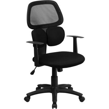 Offex Mid-back Black Mesh Chair with Flexible Dual Lumbar Support