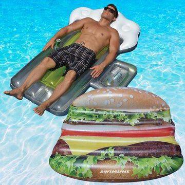 Swimline Deluxe Cheeseburger Island And Beer Mug Combo Pack