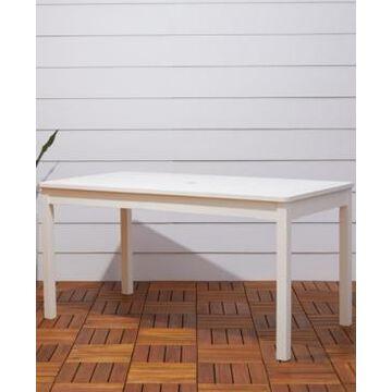 Vifah Bradley Outdoor Rectangular Patio Dining Table