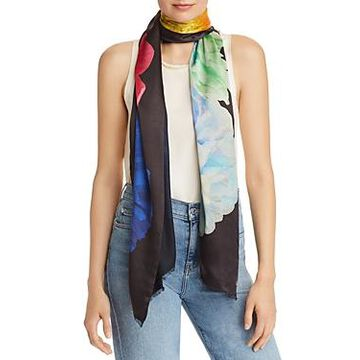 Echo Stacked Floral Oblong Scarf