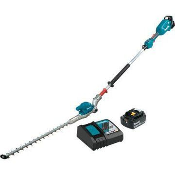 Makita 18V LXT Lithium-Ion Brushless Cordless 20 in. Articulating Pole Hedge Trimmer Kit (5.0Ah), XNU01T
