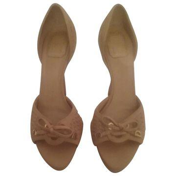 Dior Beige Leather Heels