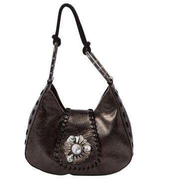 Emanuel Ungaro Anthracite Leather Clutch bags