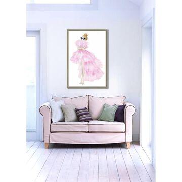 Oliver Gal 'Pink Tutu Dress' Framed Art