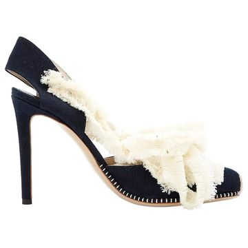 Altuzarra Black Cloth Heels