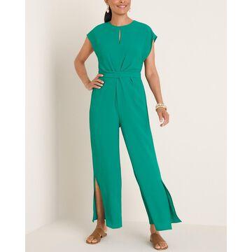 Green Twist-Waist Jumpsuit