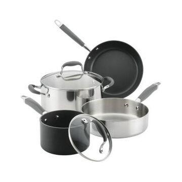 Closeout! Anolon Advanced 6-Pc. Mixed Metals Cookware Set
