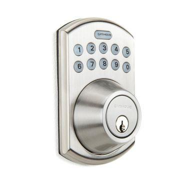 Gatehouse Satin Nickel 1-Cylinder Lighted Keypad