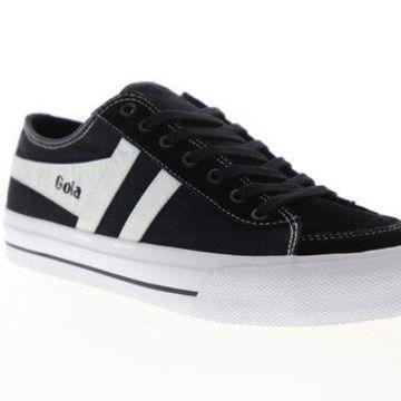 Gola Quota II Black White Mens Low Top Sneakers