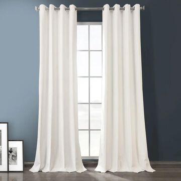 Exclusive Fabrics Plush Velvet Hotel Blackout Grommet Curtain