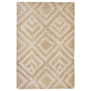 Trans Ocean Wooster Kuba 6853/12 Outdoor Rug, White, Natural, 3'6