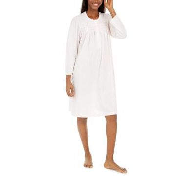 Miss Elaine Women's Brushed Honeycomb Pointelle Knit Nightgown