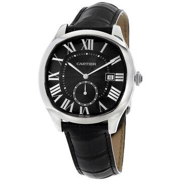 Cartier Men's WSNM0006 'Drive' Automatic Black Leather Watch