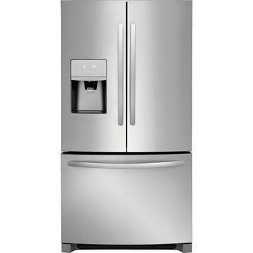 Frigidaire 26.8-cu ft 3-Door Standard-Depth French Door Refrigerator with Ice Maker (Stainless Steel) ENERGY STAR
