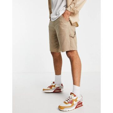 Only & Sons utility short in beige Exclusive at ASOS-Neutral