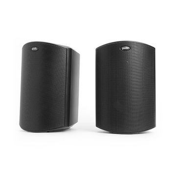 Polk Audio Atrium6 All-Weather Outdoor Speakers, Black, Pair, ATRIUM6BK