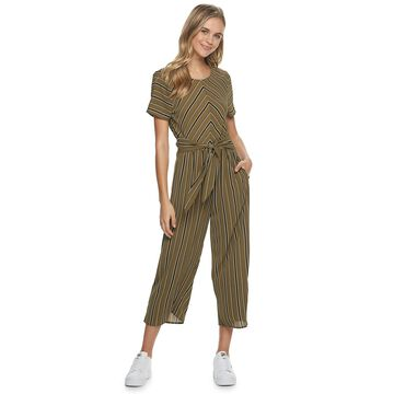 Juniors' Speechless Striped Jumpsuit