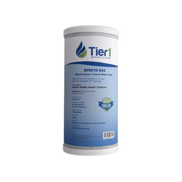 Tier1 EPM-BB 10 Micron 10 x 4.5 Carbon Block Pentek EPM-BB Comparable Replacement Water Filter 50 Pack