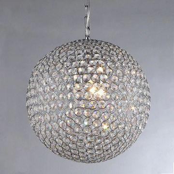 Jasmine 2-light Round Crystal 10-inch Chrome Chandelier (Crystal 10-inch Chrome Chandelier)