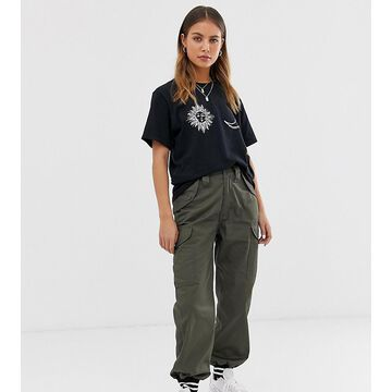 Reclaimed Vintage revived cargo jogger with tipped cuff-Green