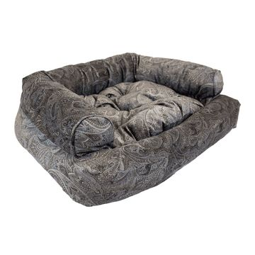 Snoozer Luxury Overstuffed Pet Sofa in Laurel Mocha