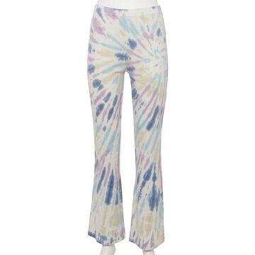 Juniors' WallFlower Cotton Ribbed Flare Pants, Girl's, Size: XS, Orange