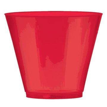 Amscan Big Party Pack Apple Red 9-oz Plastic Tumblers