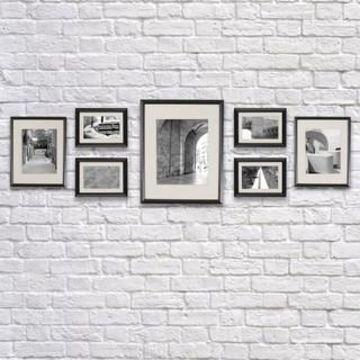Black 7-Piece Frame Set By Studio Decor