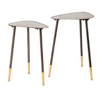 Imax Harris Metal Nesting Tables (Set of 2)