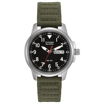 Men's Citizen Eco-Drive Military-Inspired Watch with Black Dial (Model: BM8180-30E)