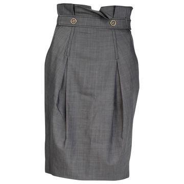 Temperley London Grey Wool Skirts