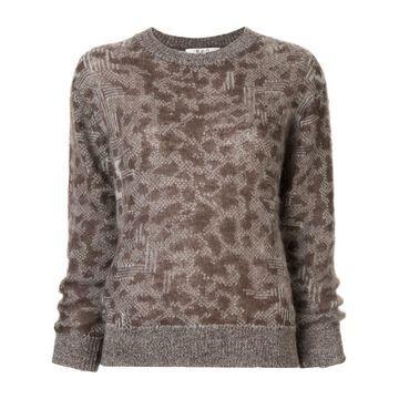 leopard pattern jumper