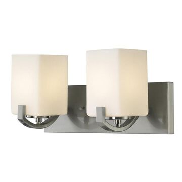 Canarm Palmer 2-Light Nickel Modern/Contemporary Vanity Light | IVL422A02BN