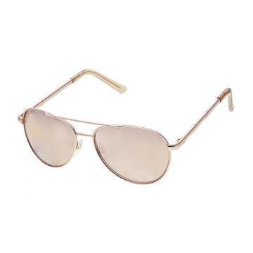 Mixit Metal Aviator Womens Sunglasses