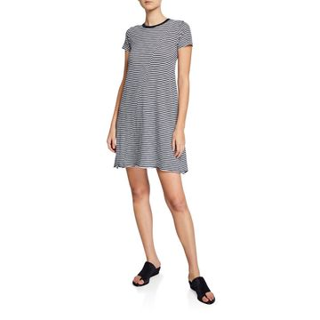 Striped Jersey Short-Sleeve Tee Dress