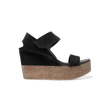 Pedro Garcia - Daire Suede Platform Sandals - Black