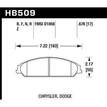 Hawk 05 Chrysler 300C w/ Perf. and HD Suspension HPS Street Front Brake Pads