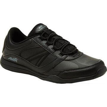 Avia Women's Avi-Focus Slip Resistant Shoe Black/Metallic Grey/Silver