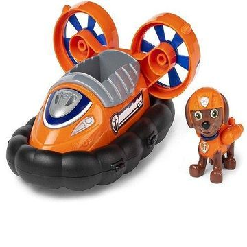 Paw Patrol, Zuma s Hovercraft Vehicle with Collectible Figure, for Kids Aged 3 and Up